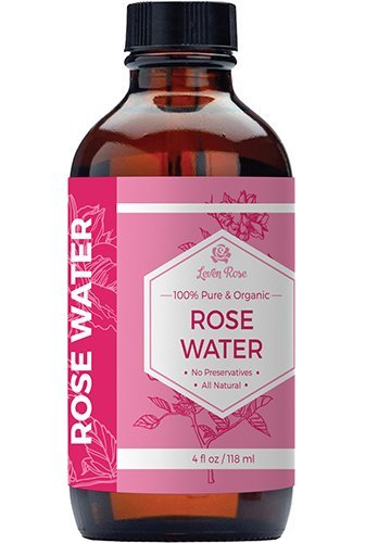 #1 TRUSTED Rose Water – 100% Organic Natural Moroccan Rosewater (Chemical Free) – 4 Oz