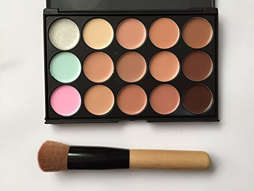 15 Color Concealer Camouflage Contour Eye Face Cream Makeup Palette Professional With Cosmetics Make Up Brushes