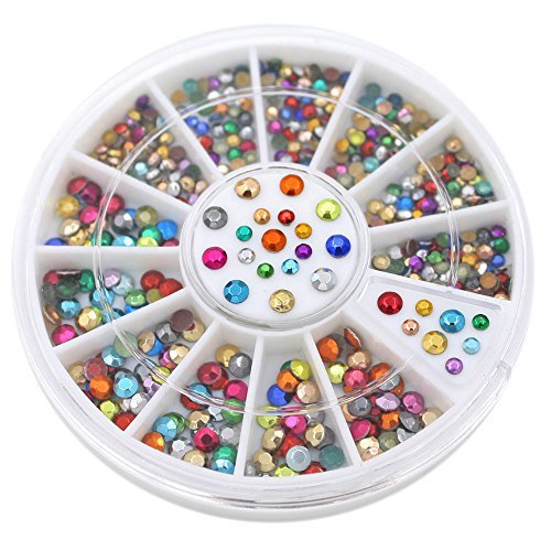 2mm 3mm Metallic Studs Rivet Flat Back Facet Rhinestones Wheels 3D Nail Art Decorations 0 0