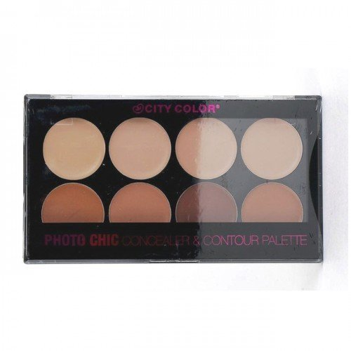 3 Pack CITY COLOR Photo Chic Concealer Contour Palette 0