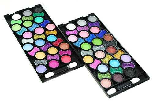 32 Color Design Neon Glitter Plain Eyeshadow Makeup Kit Extra 32 Color Eyeshadow Set 0 0