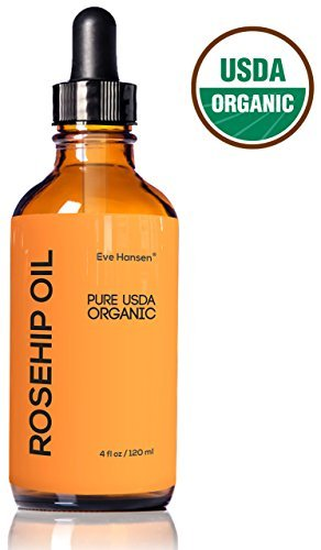 4oz Organic Rosehip Oil BIG 4 OUNCE 100 Pure Certified Organic Cold Pressed SEE RESULTS OR YOUR MONEY BACK Heals Dry Skin Fine Lines Acne Scars Eczema Psoriasis Sun Damage More 0 0