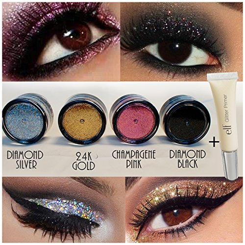 4pc GlitterWarehouse Loose Glitter Powder For Eyeshadow Body Art Elf Elf Glitter Glue 0