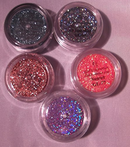 5 Piece Grl Cosmetics Glitter AUTUM Mix: 5 Gram Jars