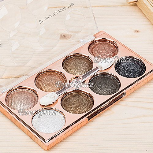 6 Luxury Color Makeup Nude Eyeshadow Palette Glitter Warm Eye Shadow White Smoky