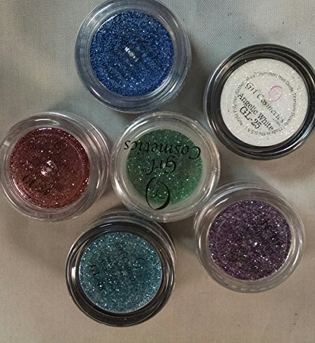 6 Piece Grl Cosmetics Glitter Beauty Mix: 5 Gram Jars