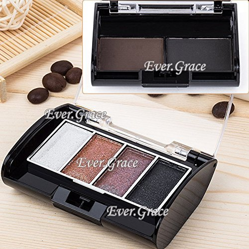 6 Warm Colors Makeup Eye Shadow Eyebrow Powder Eyeshadow Eye Brow Nude Brown Kit