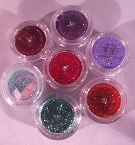7 Piece Grl Cosmetics Glitter Bright Mix: 5 Gram Jars