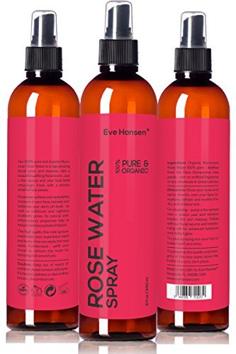 8oz Organic ROSE WATER SPRAY – 100% Pure & Natural Facial Toner With Uplifting Floral Scent – SEE RESULTS OR MONEY-BACK. Just A Few Sprays & Your Face Feels Amazingly Fresh With Tender Smell Of Roses!