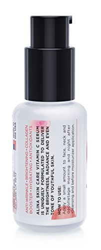 AWARD WINNING DERMATOLOGIST RECOMMENDED Alina Skin Care Vitamin C Serum With Hyaluronic Acid And Green White Tea Extracts With Patented Inflacin And Qsomes Delivers The Most Effective Anti Aging Serum 0 0