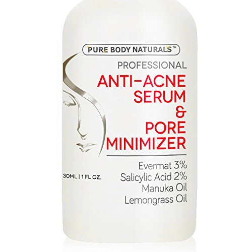 Acne Treatment For Face & Pore Minimizer Serum – Dermatologist Tested Product, Made With Revolutionary Evermat®, Great For Anti Acne Spot Treatment,Visibly Reduces Blemishes & Smoothes Complexion 1 Oz