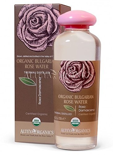 Alteya Organic Bulgarian Rose Water – 250ml / 8.5oz, USDA Organic, Special Thermal-Distilled, From Our Rose Farm And Distillery