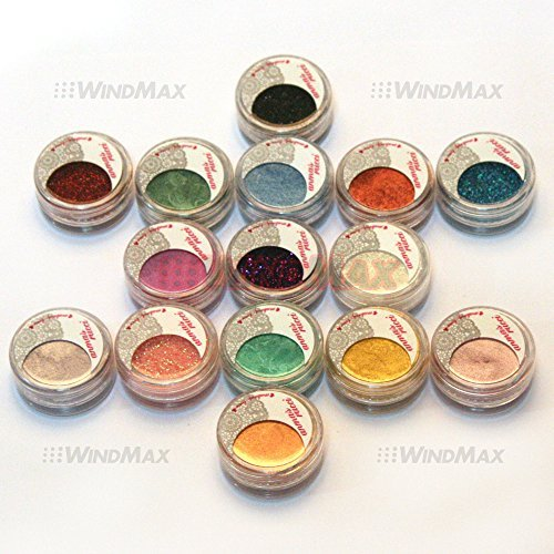 Amazing Gift USPS Shipping 15 Cold Smoked Metals Color Glitter Shimmer Pearl Loose Eyeshadow Pigments Mineral Eye Shadow Dust Powder Makeup Party Cosmetic Set E 0 0