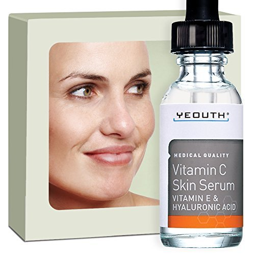 Anti Aging Vitamin C Serum For Day With Vitamin E And Hyaluronic Acid, Anti Wrinkle, Fill Fine Lines, Evens Skin Tone, Fades Age Spots, Medical Grade Skin Care Formula For Face – YEOUTH
