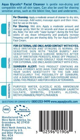 Aqua Glycolic Facial Cleanser 6 Ounce Bottle 0 0