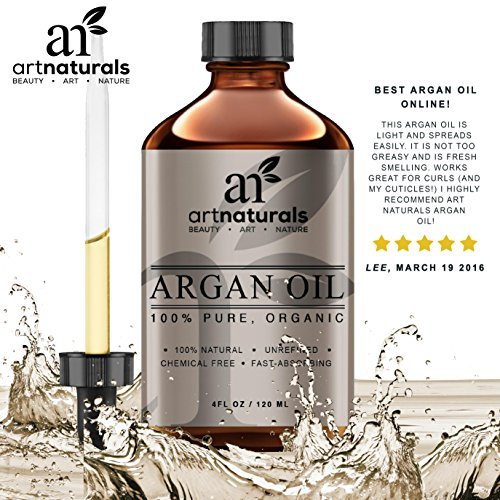 Art Naturals Organic Argan Oil For Hair Face Skin 4 Oz 100 Pure Grade A Triple Extra Virgin Cold Pressed From The Kernels Of The Moroccan Argan Tree The Anti Aging Anti Wrinkle Beauty Secret 0 0