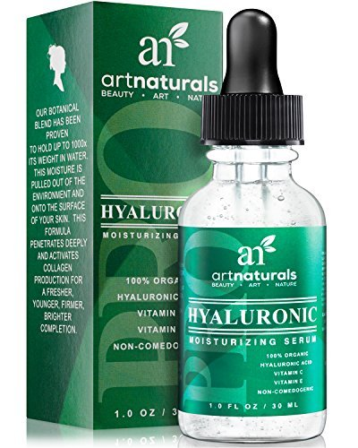 ArtNaturals Hyaluronic Acid Serum 1 Oz -BEST Anti Aging Skin Care Product For Face Clinical Strength With Vitamin C Serum, Vitamin E & Green Tea -Reduces Wrinkles & More – For Youthful & Radiant Skin