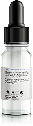BEST 100 PURE HYALURONIC ACID DERMATOLOGIST RECOMMENDED Professional Hydration Serum Clinical Strength Natural Organic Best Selling Advanced Anti Aging Moisturizer For Face Skin Care Cream 1 OZ 0 0