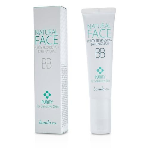 Banila Co. By Natural Face Purity BB SPF35 (For Sensitive Skin) – Bare Natural –30ml/1oz For WOMEN —(Package Of 4)