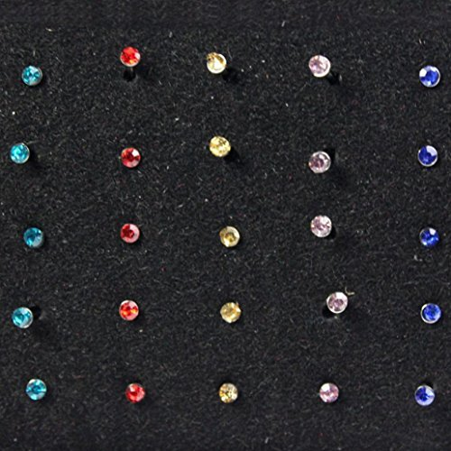 Best Surgical Steel Nose Stud Lot – 40 Piece Set (Colorful)