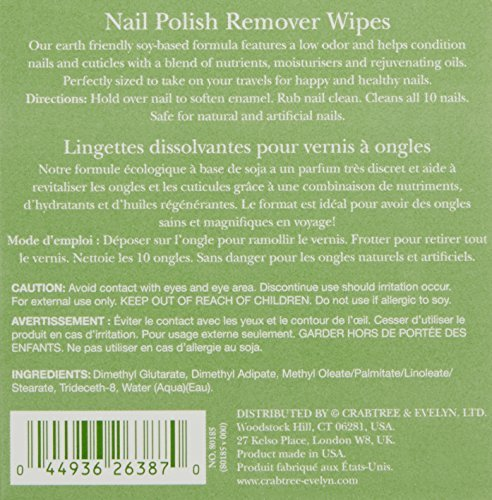 Crabtree Evelyn Nail Polish Remover Wipes 0 0