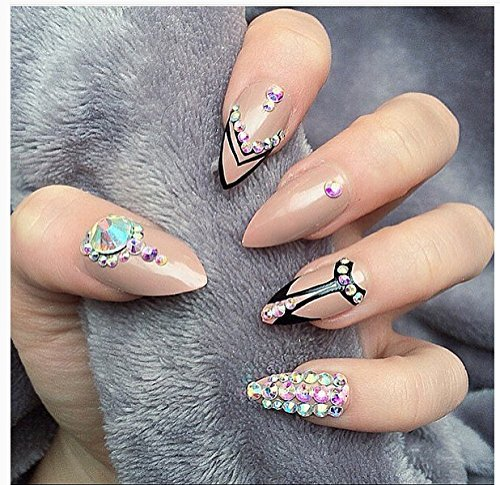 Full Nail Covered In Coloured Acrylic | Best Nail Designs 2018