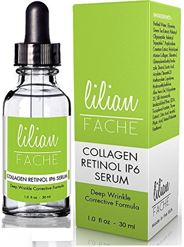 Fine Line And Wrinkle Repair Correction Collagen Retinol IP-6 Serum From Lilian Fache, Clinical Strength Anti Aging Serum – The Best Anti Wrinkle Serum – 30ml