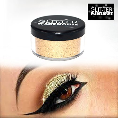 4pc GlitterWarehouse Loose Glitter Powder For Eyeshadow Body Art + E.l.f Elf Glitter Glue