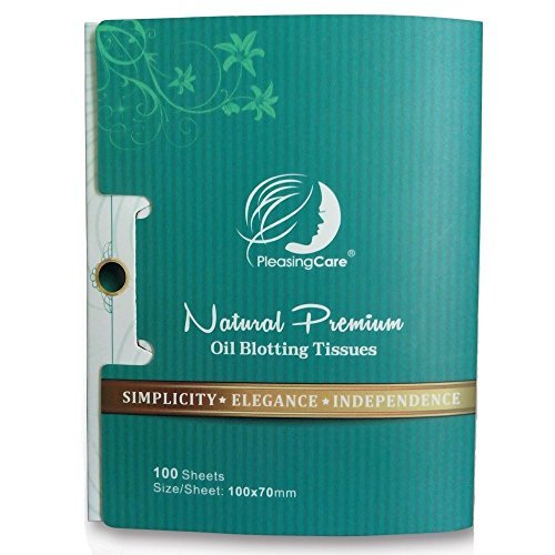 Natural Bamboo Charcoal Oil Absorbing Tissues – 200 Counts In 2 Pack Oil Blotting Paper