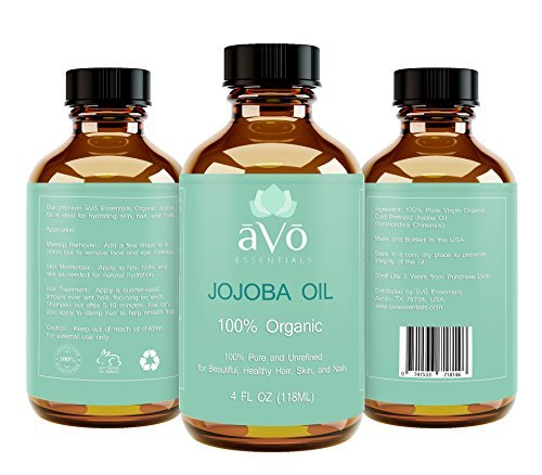 Organic Jojoba Oil, 100% Pure Cold Pressed, Natural Unrefined ...