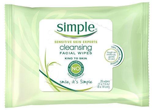 Simple Cleansing Facial Wipes 25 Count 0