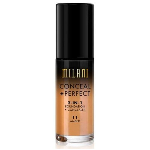 (3 Pack) MILANI Conceal + Perfect 2-In-1 Foundation + Concealer – Amber