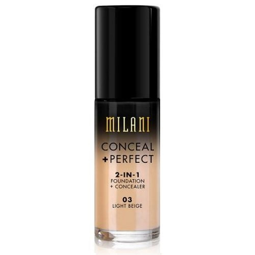 (3 Pack) MILANI Conceal + Perfect 2-In-1 Foundation + Concealer – Light Beige