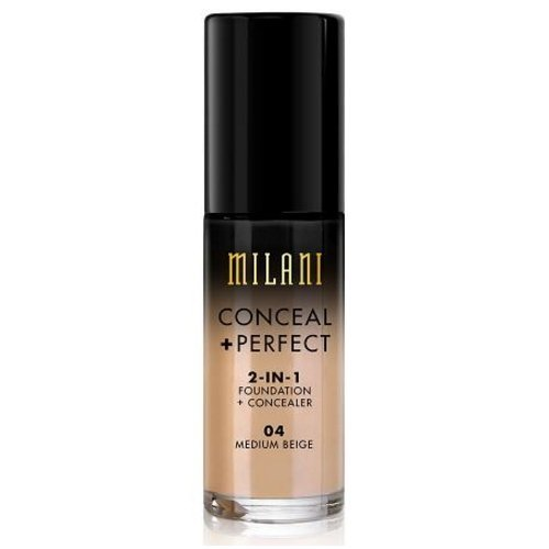 (3 Pack) MILANI Conceal + Perfect 2-In-1 Foundation + Concealer – Medium Beige