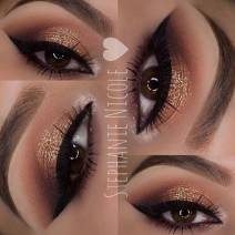 Brown & Gold Makeup By Muastephnicole