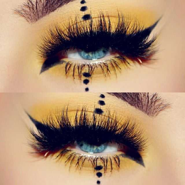 Yellow Fever And Wing Eyeliner By Kemitzia