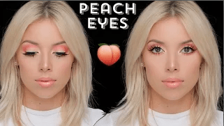 Peachy Keen Eye Makeup By LustreLux