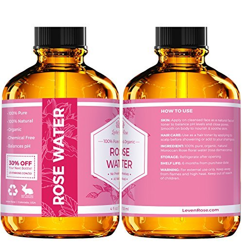 1 TRUSTED Rose Water 100 Organic Natural Moroccan Rosewater Chemical Free 118 Ml 0 3