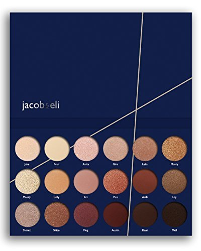 18 Super Pigmented High Quality – Top Influencer Professional Eyeshadow Palette All Finishes, 5 Matte + 9 Shimmer + 4 Duochrome – Buttery Soft, Creamy Texture, Blendable, Long Lasting Stay (Bare)