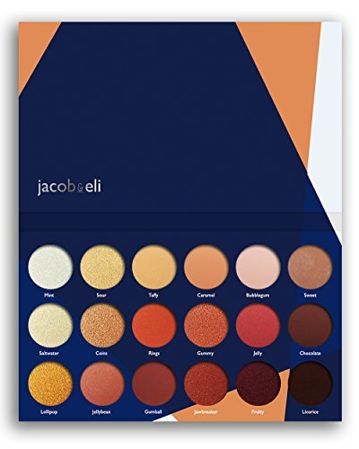 18 Super Pigmented – Top Influencer Professional Eyeshadow Palette All Finishes, 5 Matte + 9 Shimmer + 4 Duochrome – Buttery Soft, Creamy Texture, Blendable, Long Lasting (Candy Peaches)