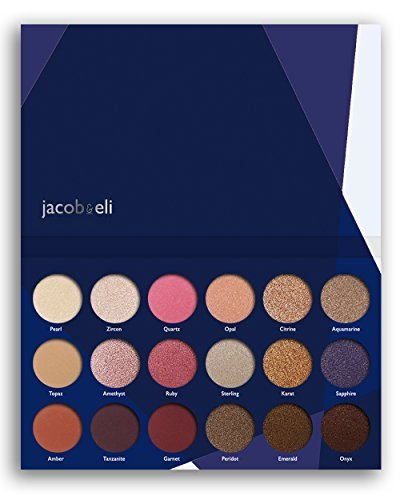 18 Super Pigmented – Top Influencer Professional Eyeshadow Palette All Finishes, 5 Matte + 9 Shimmer + 4 Duochrome – Buttery Soft, Creamy Texture, Blendable, Long Lasting (Hidden Gems)