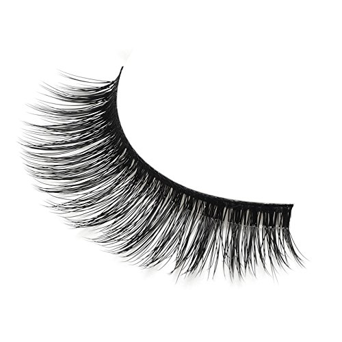 3 Pairs Long Cross False Eyelashes Makeup Natural 3D Fake Thick Black Eye Lashes Icycheer Soft Fake Lash 0 3