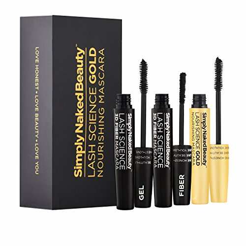 3D Fiber Lash Mascara With Growth Enhancing Serum By Simply Naked Beauty Castor Oil Lash Growth Mascara Organic Hypoallergenic Ingredients Waterproof Smudge Proof Last All Day 0 0