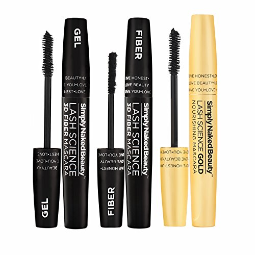 3D Fiber Lash Mascara With Growth Enhancing Serum By Simply Naked Beauty Castor Oil Lash Growth Mascara Organic Hypoallergenic Ingredients Waterproof Smudge Proof Last All Day 0 1