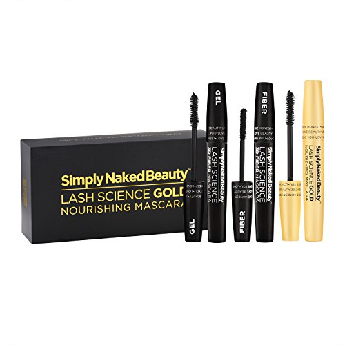 3D Fiber Lash Mascara With Growth Enhancing Serum By Simply Naked Beauty Castor Oil Lash Growth Mascara Organic Hypoallergenic Ingredients Waterproof Smudge Proof Last All Day 0 5