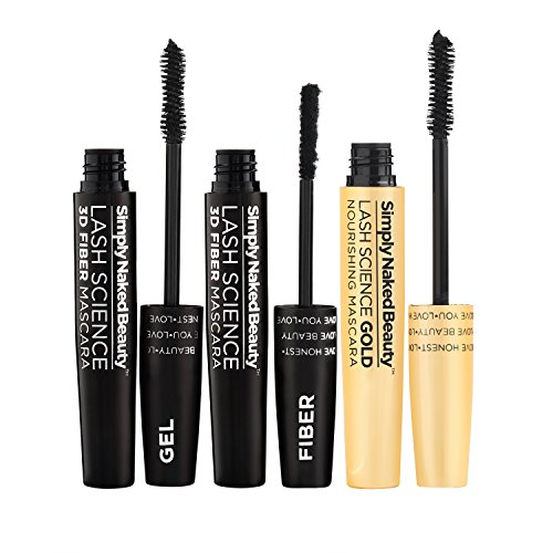 3D Fiber Lash Mascara With Growth Enhancing Serum By Simply Naked Beauty Castor Oil Lash Growth Mascara Organic Hypoallergenic Ingredients Waterproof Smudge Proof Last All Day 0 6