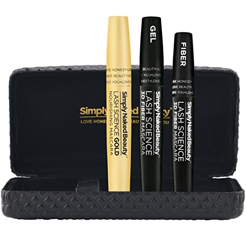 3D Fiber Lash Mascara With Growth Enhancing Serum By Simply Naked Beauty Castor Oil Lash Growth Mascara Organic Hypoallergenic Ingredients Waterproof Smudge Proof Last All Day 0