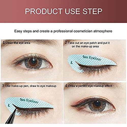 Pairs Eyeliner Stencil Stickers Smoky Eyeshadow Applicators - Eyeshadow template