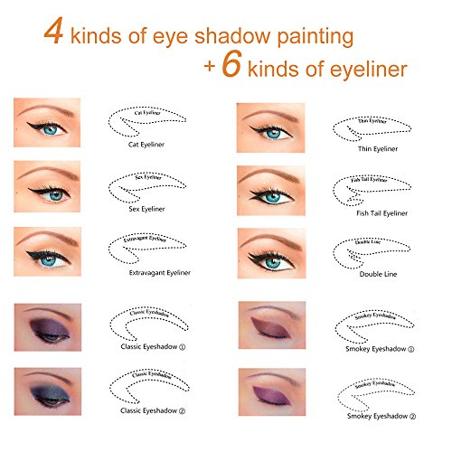 Pair Beauty Makeup Eyeliner Stickies Stencil Smokey Shaper - Eyeshadow template