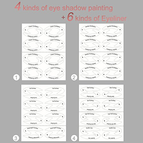 64 Pair Beauty Makeup Eyeliner Stickies Stencil Smokey Shaper Eyeshadow Drawing Guide Stencil For Classic Eye Liner Template Plate Makeup Tool 0 4